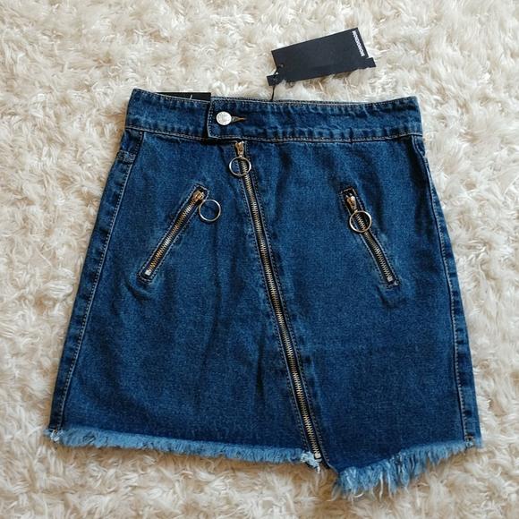 Momokrom Dresses & Skirts - Momokrom Down-' low Denim Skirt